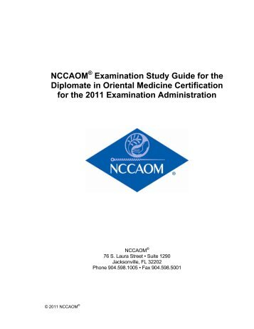 NCCAOM Examination Study Guide for the ... - CatsTCMNotes
