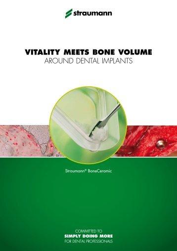 VITALITY MEETS BONE VOLUME around dental implants