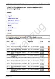 Vorabzug Lehrmittelverzeichnis für die Primarschule 2014/15