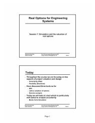 Simulation and Real Options - MIT