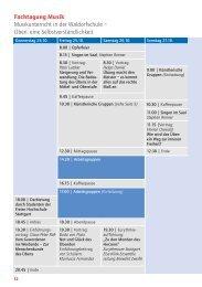 Fachtagung: Musik (PDF) - Bund der Freien Waldorfschulen