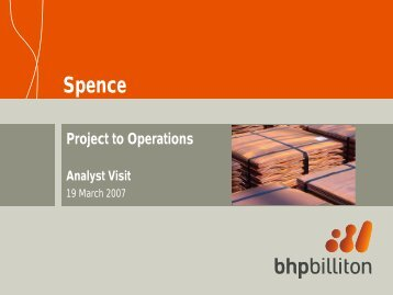 Spence presentation (PDF 3.0 MB) - BHP Billiton