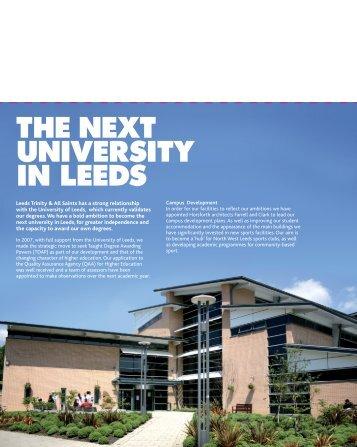 THE NEXT UNIVERSITY IN LEEDS - Leeds Trinity University