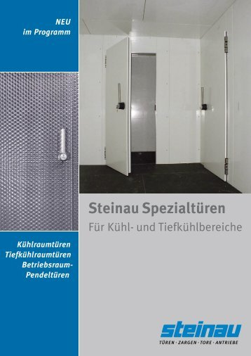 Steinau-Kühlraumtüren als PDF