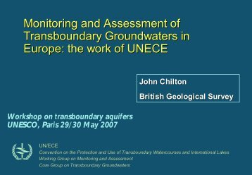 Monitoring and Assessment of Transboundary ... - Hydrology.nl