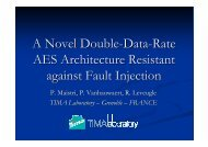 A Novel Double-Data-Rate AES Architecture Resistant against Fault ...