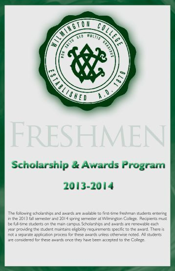 Scholarships for freshmen