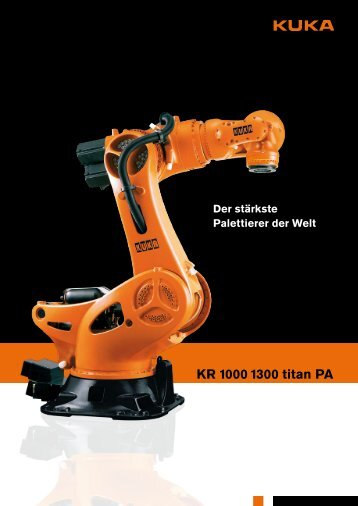Datenblatt | Palettierroboter KR 1000 1300 titan PA - Logismarket