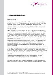 Shareholder Newsletter - Advanced Inflight Alliance AG