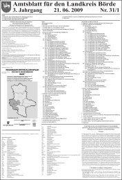 Amtsblatt für den Landkreis Börde 3. Jahrgang 21. 06. 2009 Nr. 31/1