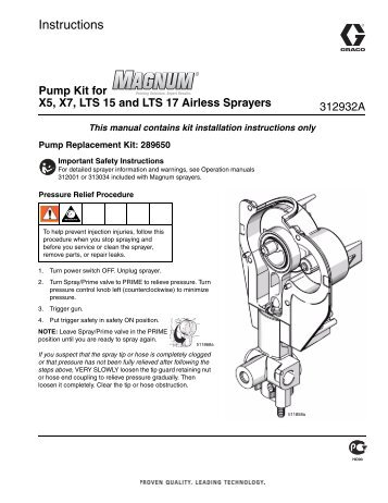 Magnum Pump Kit for X5, X7, LTS 15 and LTS ... - Graco Inc.