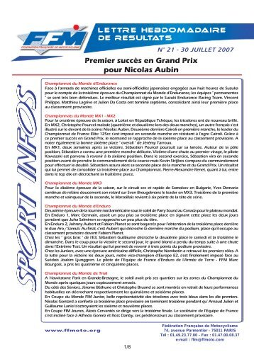 sport infos 21.qxd - Moto Station