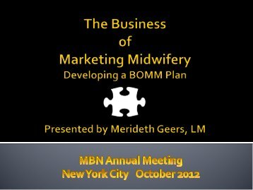 Handout - Midwifery in the United States and the Consensus Model ...