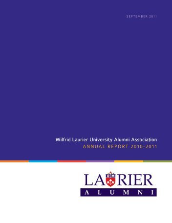 Annual Report of the Wilfrid Laurier University Alumni Association
