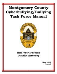 Montgomery County Cyberbullying/Bullying Task Force - Horsham ...