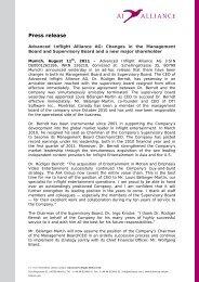 Press release - Advanced Inflight Alliance AG