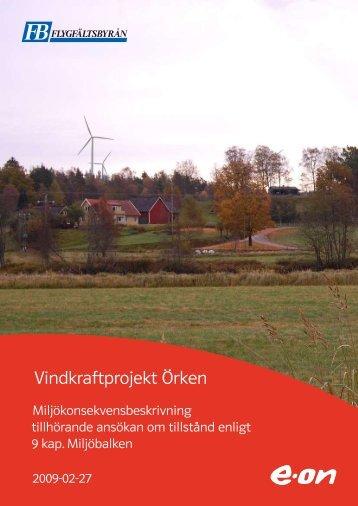 Vindkraftprojekt Örken - E-on