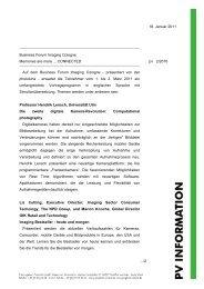 18. Januar 2011 Business Forum Imaging ... - Prophoto GmbH