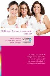 Breast Screening Guidelines for Childhood Cancer Survivors brochure
