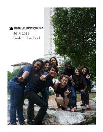2013-2014 Student Handbook - College of Communication - The ...