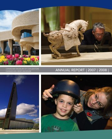 CMCC Annual Report, 2007-2008 - Canadian Museum of Civilization