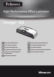 Manuel d'utilisation Voyager A3 - Fellowes