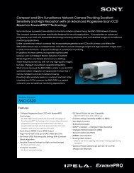 SNC-CS20 Spec Sheet - Surveillance-Video.com