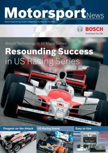 Resounding Success in US Racing Series - Bosch Motorsport
