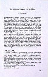 The National Register of Archives - Visa filer