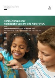 Rahmenlehrplan für Heimatliche Sprache und Kultur (HSK) - Amt für ...
