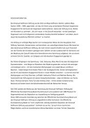 Pressetext Emanuel Hoffmann-Stiftung - Kunstmuseum Basel