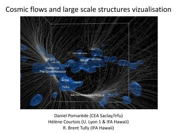 Visualization of structures and cosmic flows in the ... - CLUES-Project