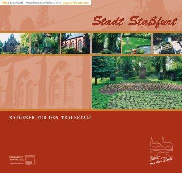 Ratgeber für den Trauerfall - Stadt Staßfurt