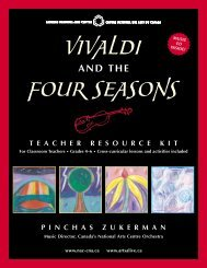 Vivaldi and the Four Seasons - Teacher Resource Kit - ArtsAlive.ca