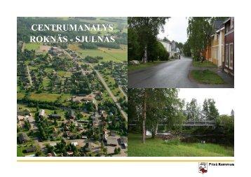 CENTRUMANALYS ROKNÄS - SJULNÄS - Piteå kommun