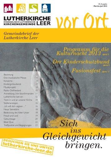 Nr. 45 – »Sich ins Gleichgewicht bringen - Lutherkirche Leer