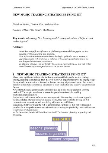 new music teaching strategies using ict - ICL