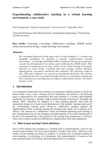 Collaborative Teaching Environment : Introductory programming by collaborative method pair