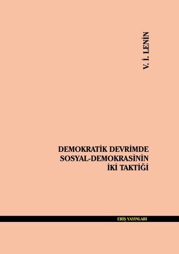 Demokratik Devrimde Sosyal Demokrasinin iki taktigi- Lenin