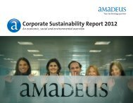 Corporate Sustainability Report 2012 - Investor relations at Amadeus