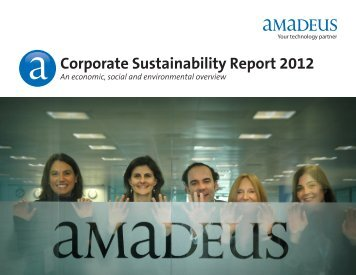 Corporate Sustainability Report 2012 - Investor relations at Amadeus