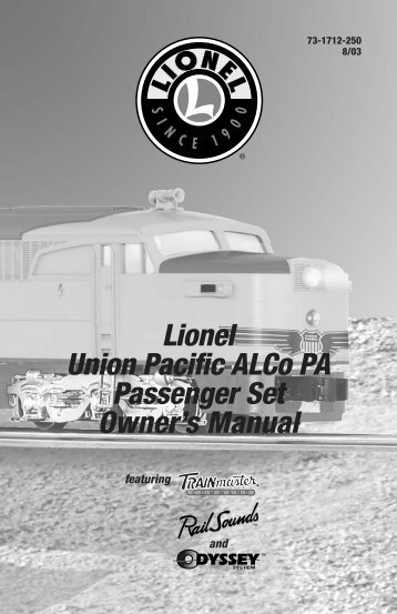 Lionel Union Pacific ALCo PA Passenger Set ... - Lionel Trains
