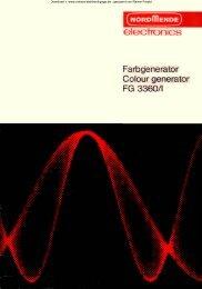 Farbgenerator FG 3360 - Rainers - Elektronikpage
