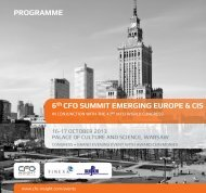 6th CFo Summit emerging euroPe & CiS Programme - CFO Insight