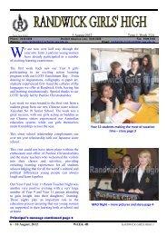 13 Newsletter 3 Aug 2012 Week 33 [pdf, 1 MB] - Randwick Girls ...