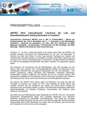 Pressemitteilung August 2013 (PDF) - Airtec