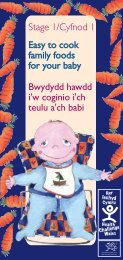 Easy to cook family foods for your baby Bwydydd hawdd i'w coginio i ...
