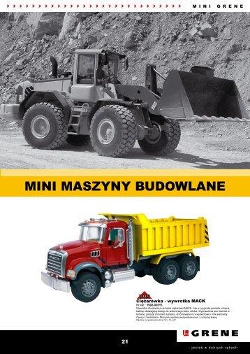 MINI MASZYNY BUDOWLANE - Grene