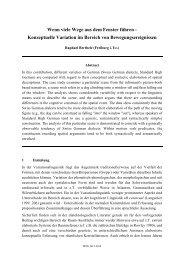 Konzeptuelle Variation im Bereich von ... - Linguistik online