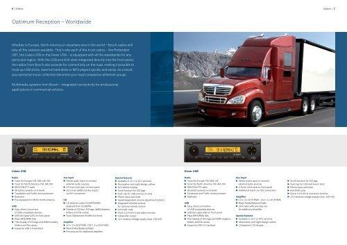 Bosch Truck Multimedia 2010/11 - Bosch - Kraftfahrzeugtechnik